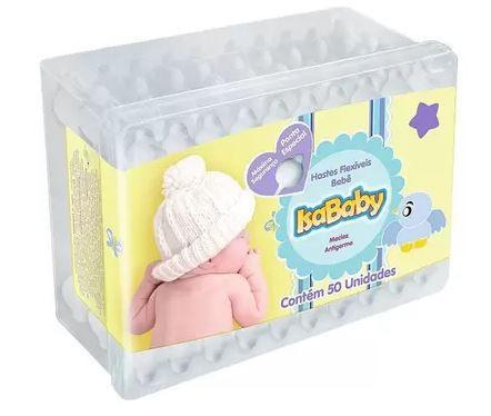 Haste Flexível Pote 50 un - Isababy
