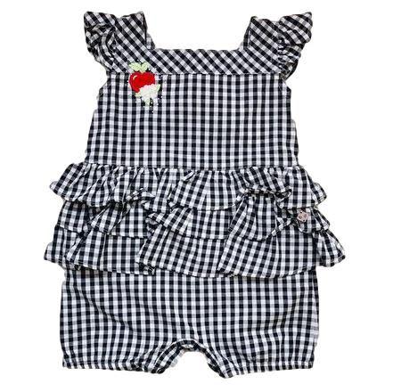 Macacão Curto Infantil Feminino - Preto - Anjos Baby