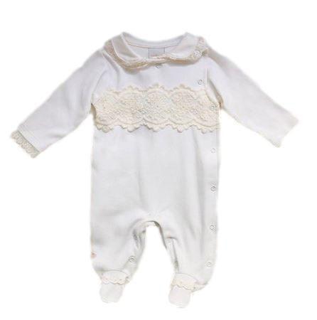 Macacão Infantil Feminino - Off White - Anjos Baby
