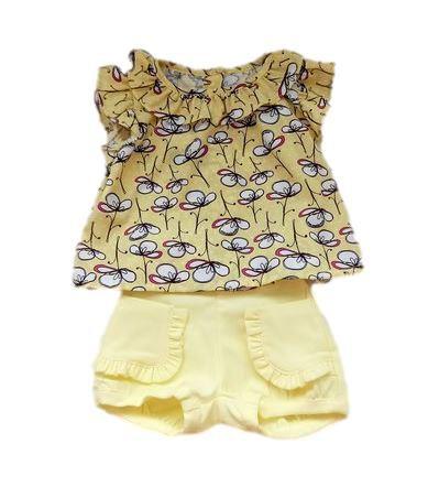 Conjunto Infantil Feminino - Amarelo - 1+1