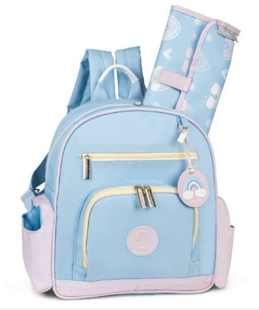 Mochila Noah Colors - Azul/Rosa - Masterbag