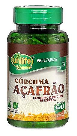 Açafrão Cúrcuma Unilife 60 cápsulas 500mg