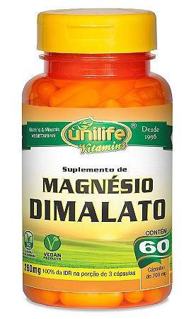 Magnésio Dimalato Unilife 60 cápsulas 700mg