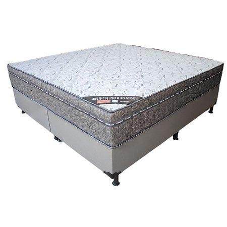 Cama Box Queen Ortobom Airtech Progressive Molas Nanolastic 193x72X203