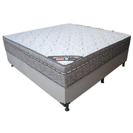 Cama Box Queen Ortobom Airtech Progressive Molas Nanolastic 138x72X188