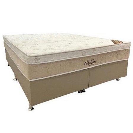 Conjunto Cama Box Ortobom Queen Size  Elegant Molas Nanolastic  158x69x198