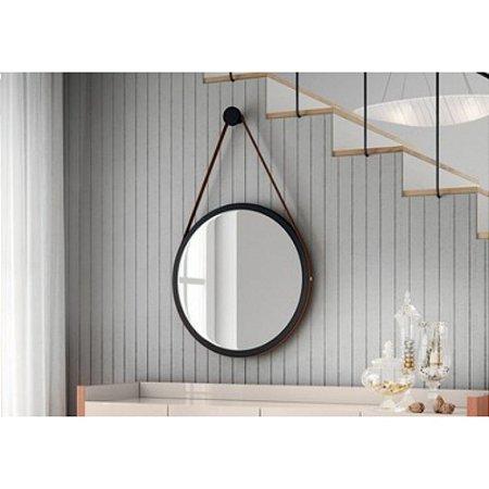 Disco Decorativo HB Móveis Preto Fosco com espelho