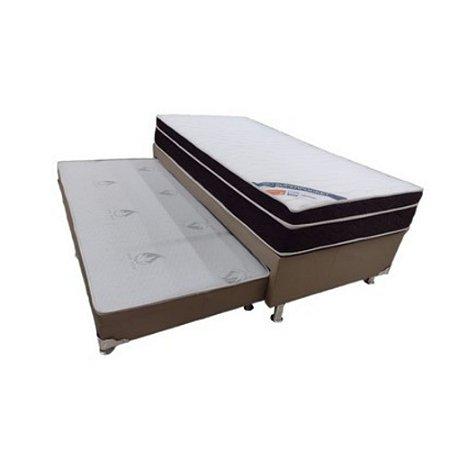 Cama Box Solteiro Bicama C/Auxiliar Ortobom Iso Superpocket 88x67x188