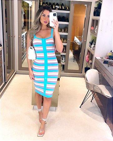 Vestido Tiffany Listrado