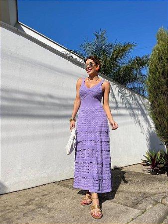 Vestido de Tricot Ariel Lilás