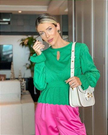 Blusa de Tricot Verde