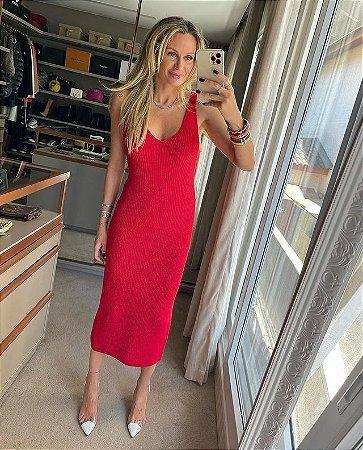 Vestido Tricot Rayon Vermelho