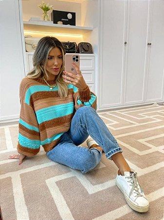 Blusa de Tricot Tiffany Listrada