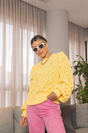 Blusa de Tricot Amarela