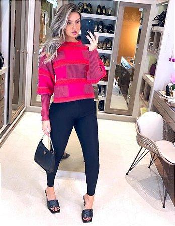 Blusa de Tricot Celeste Neon