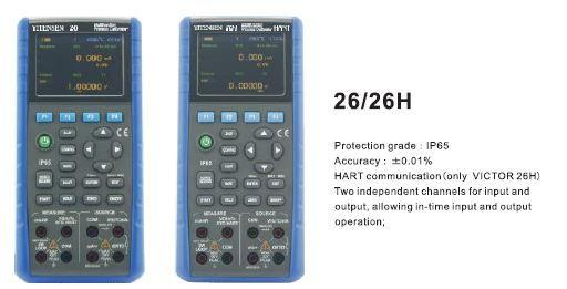 VC 26H Calibrador de processo multifuncional (Comunicação HART)