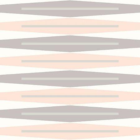 Papel de Parede Geométrico Lilás / Rosa