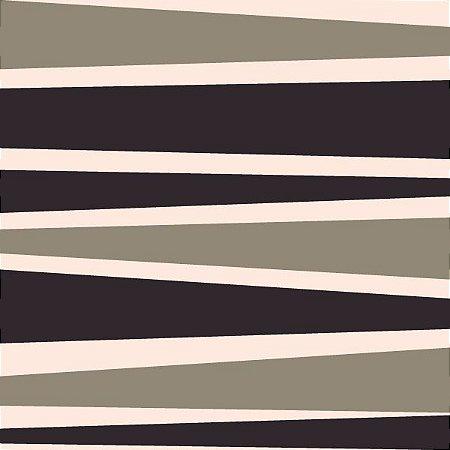 Papel de Parede Geométrico Cinza / Preto