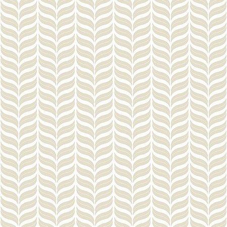 Papel de Parede Geométrico Branco / Bege
