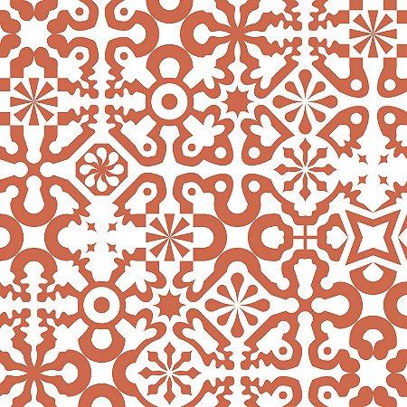 Papel de Parede Geométrico Vermelho / Branco