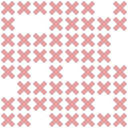 Papel de Parede Geométrico Branco / Rosa