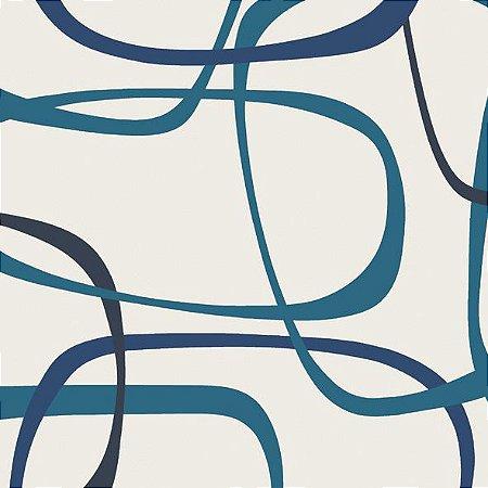 Papel de Parede Geométrico Verde / Azul