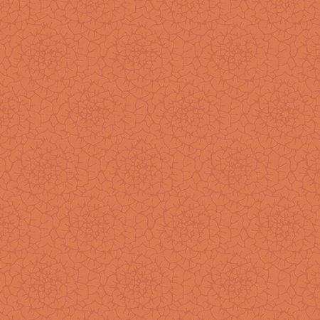 Papel de Parede Floral Laranja