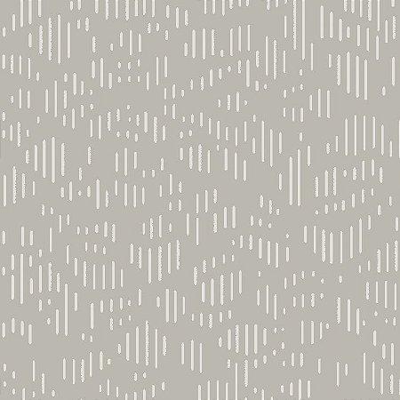 Papel de Parede Geométrico Cinza Claro