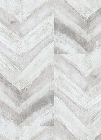 Papel de Parede Geométrico Cinza / Branco
