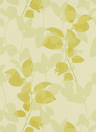 Papel de Parede de Folhas Amarelo