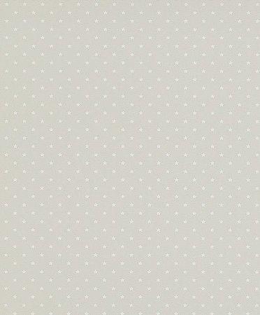Papel de Parede de Poá Cinza / Branco