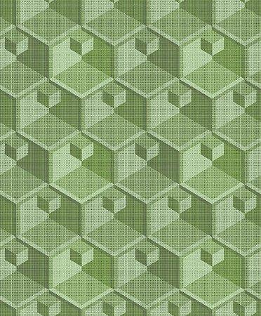 Papel de Parede Geométrico Verde