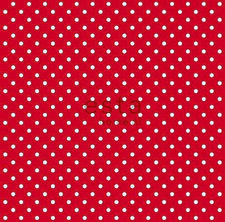 Papel de Parede Bolinha Vermelho e Branco