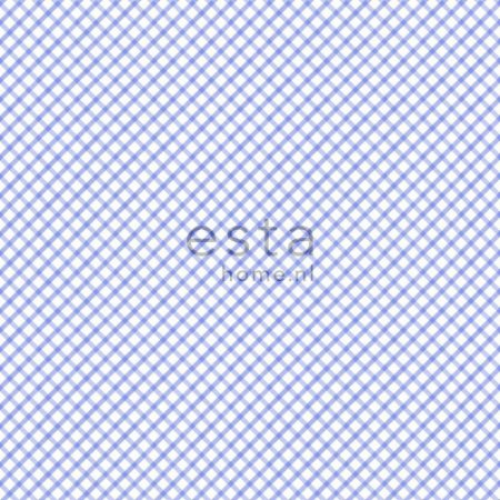 Papel de Parede Xadrez Azul / Branco