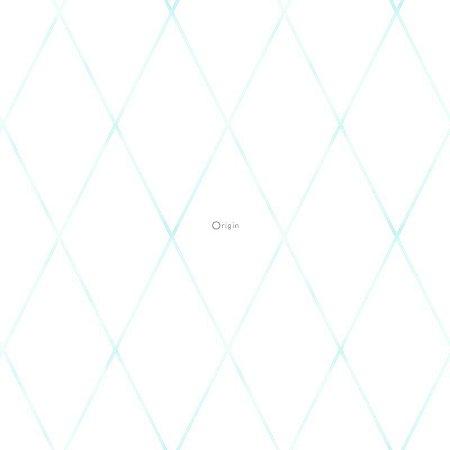 Papel de Parede Geométrico Infantil Azul e Branco