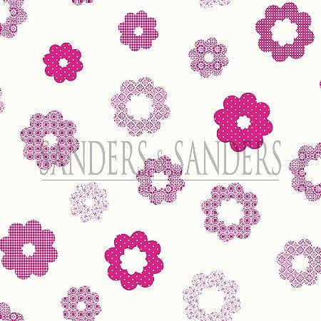 Papel de Parede Infantil Flores Pink e Rosa