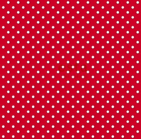 Papel de Parede Infantil Poá Vermelho / Branco