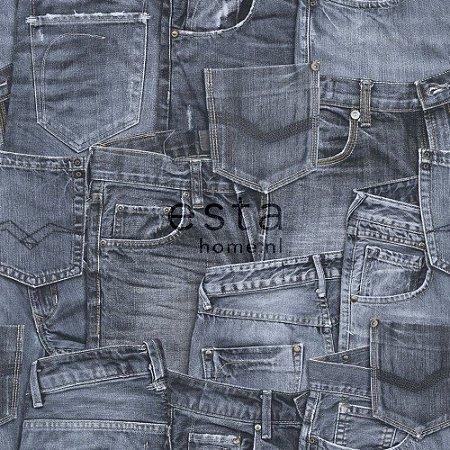 Papel de Parede de Calça Jeans Azul