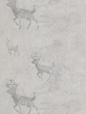 Papel de Parede com Animais Cinza