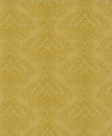 Papel de Parede Arabesco Amarelo