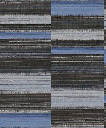 Papel de Parede Geométrico Cinza / Preto / Azul