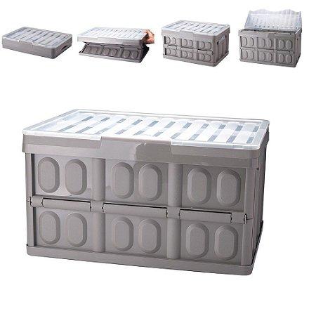Caixa Organizadora Multiuso Desmontável Tampa 12Lts Plasutil