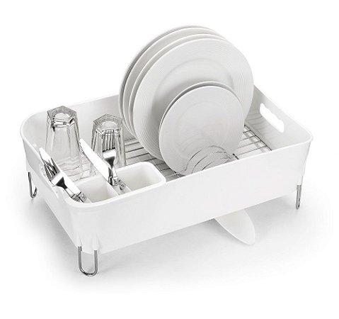Escorredor de Prato Deluxe Arthi 1054 - Branco 12 Pratos