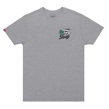 Camiseta masculina thug nine racoon