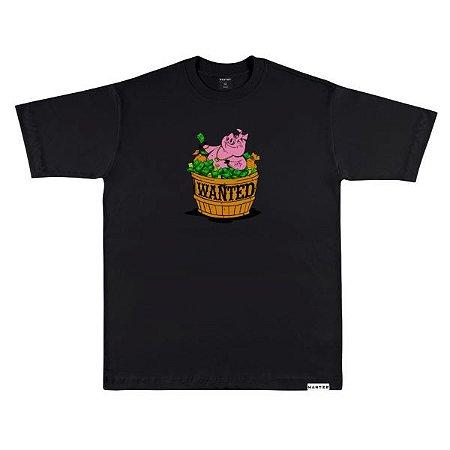 Camiseta wanted – pig hustlin