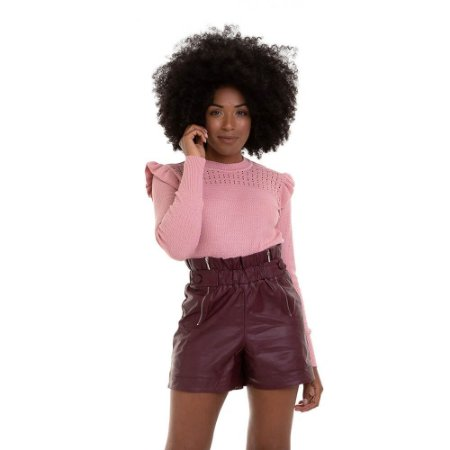 TRICOT CROPPED BABADO OMBRO