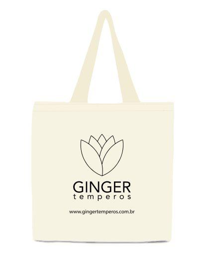 Ecobag em algodão cru Ginger Temperos