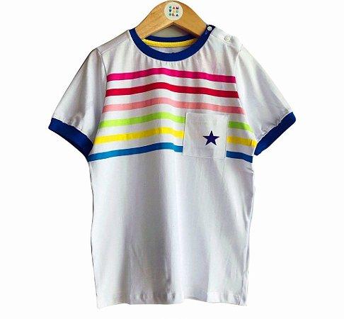 Camiseta listrada arco iris