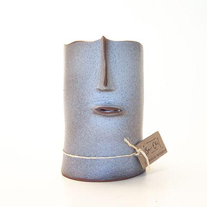 Vaso Face Branco - San.Olí Cerâmica Artesanal