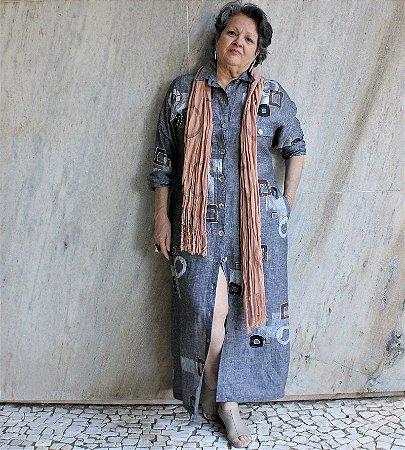 Vestido Amélia Cinza - Studio Lica Soares